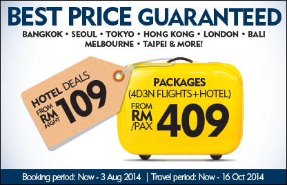 Best Price Guaranteed. Hotel deals from RM109/night. Packages (4D3N Flights+ Hotel) from RM409/pax