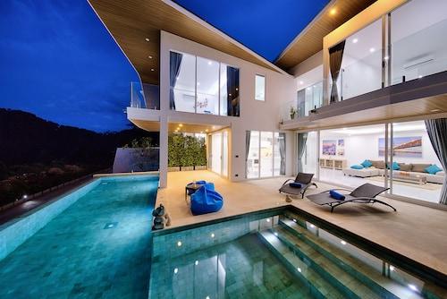 現代風 3 房泳池蘭花別墅飯店