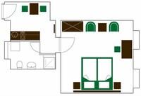 Standard Apartment, 2 Single Beds