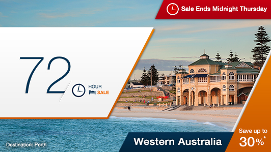 Western Australia 72-hour sale up to 30% off hotels at Expedia.com.au