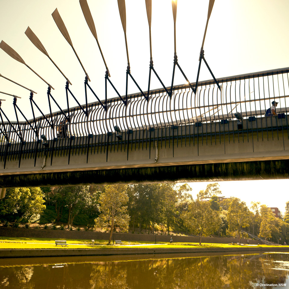 Parramatta River pedestrian bridge