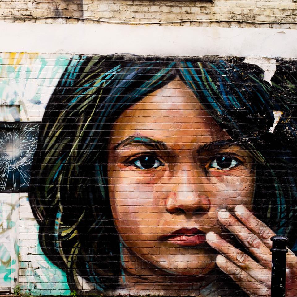 Graffiti wall London markets