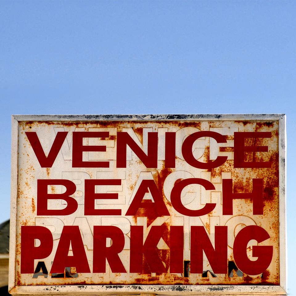 Venice Beach Parking sign