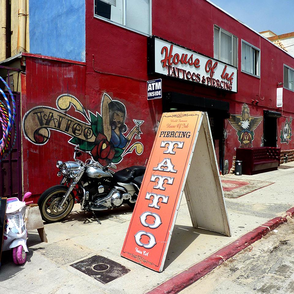 Venice Beach tattoo parlour