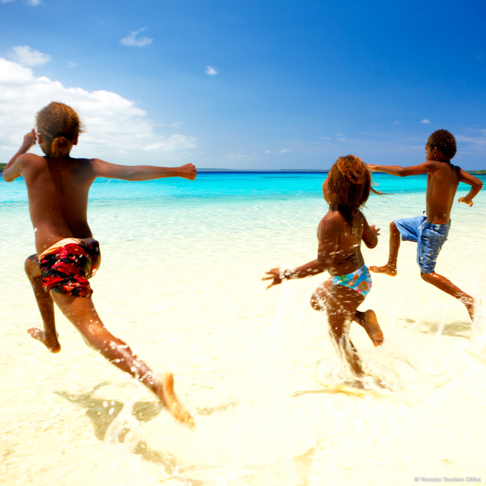 Children on the beach, Santo Vanuatu