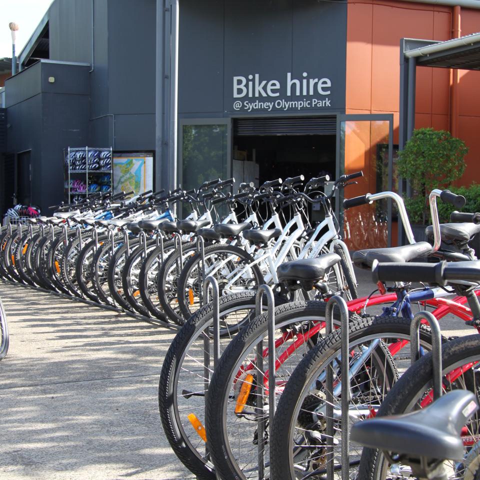 Bike hire Sydney Olympic Park