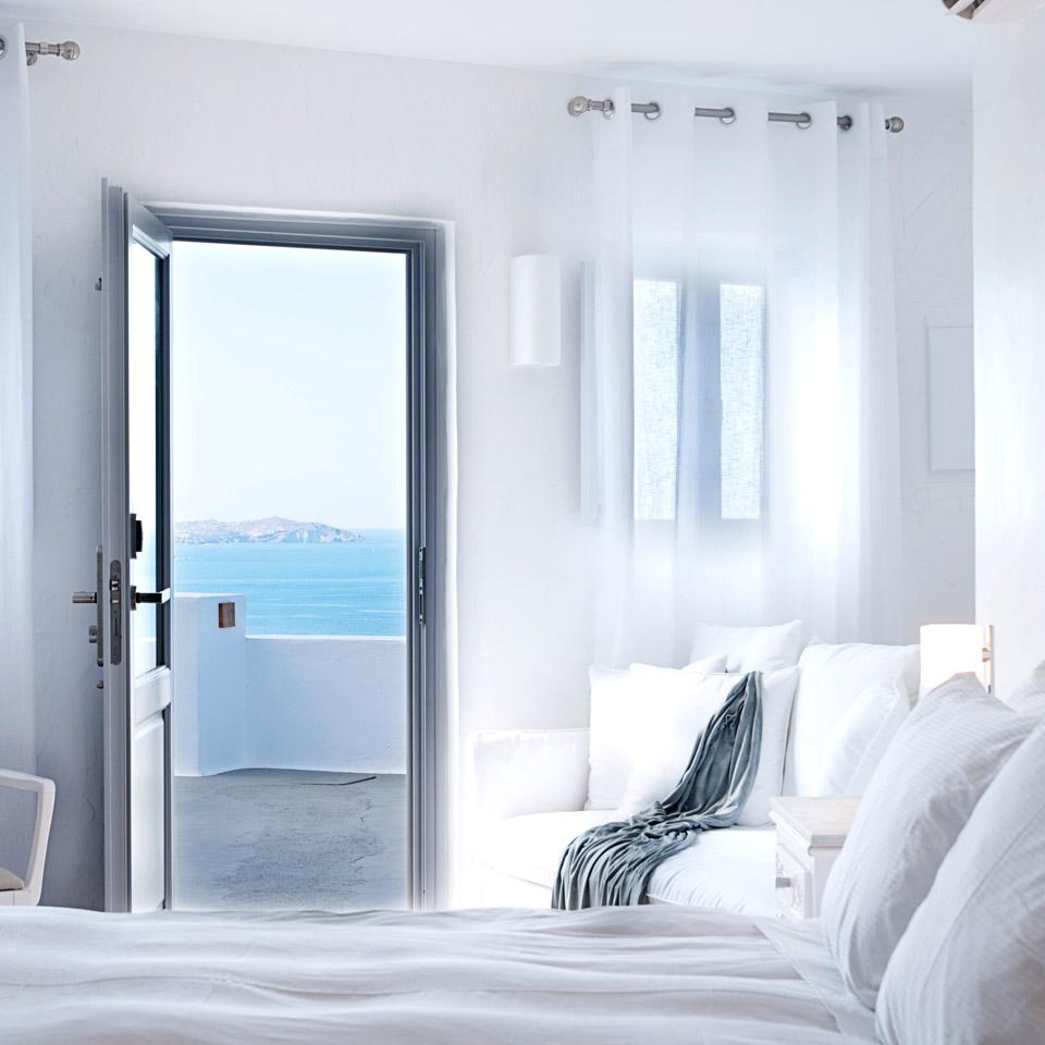 Katikies Hotel, Santorini, Greece ocean view