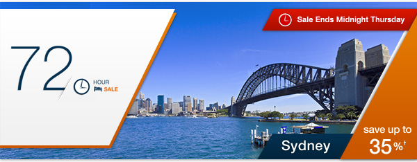 Save Up to 35% OFF Sydney Hotels For 72Hr Sale at Expedia.com.au