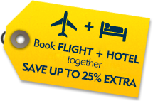 Book Flight & Hotel together and Save up to 21% extra