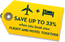 Book Flight & Hotel together and Save up to 25% extra