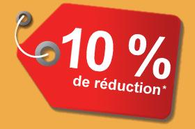 10 % de réduction*