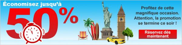 Ventes Flash 72h - économisez jusqu'à 50% - réservez dès maintenant