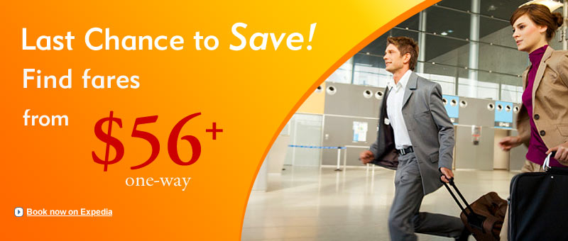 Last chance to save on U.S. Fares: Fly One-way from $56+