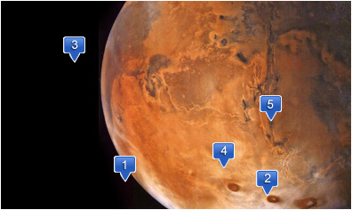 map of Mars hotels