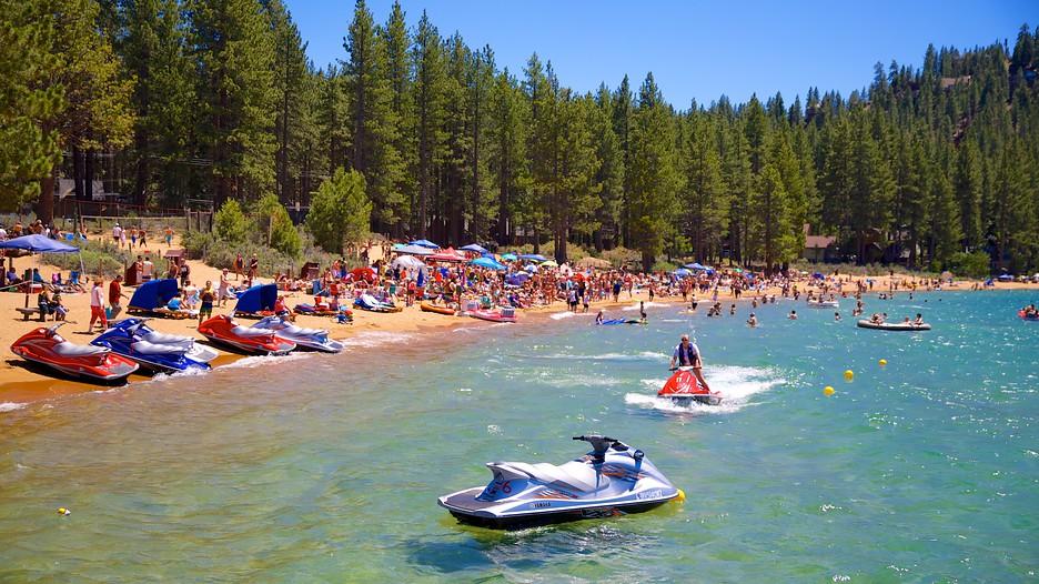 Zephyr Cove Beach In Lake Tahoe Nevada