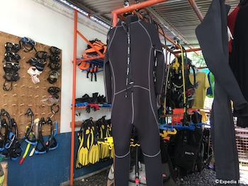On Dive Love & Peace Resort Bohol Equipment Storage