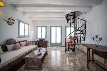 Oia Captain's Villa - Living Room  - #0