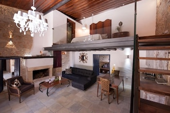 Oinoessa Traditional Boutique Houses - Living Area  - #0
