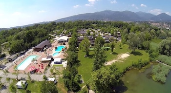 Photo for Holiday chalets Camping Class in Eupilio