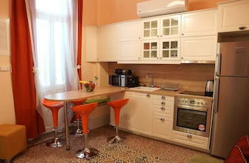 Athens Family Apartments - In-Room Kitchen  - #0