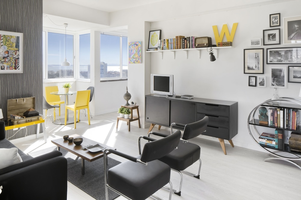 Prime Apartments White and Yellow
