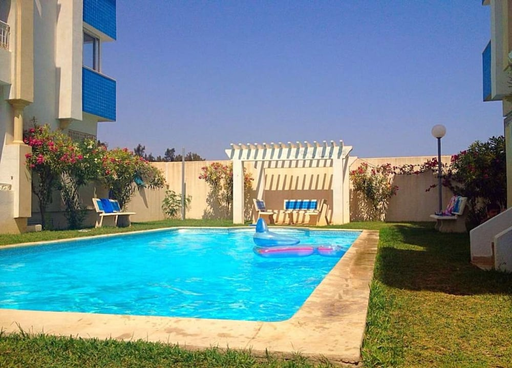 Apartment With 2 Bedrooms in Hammamet, With Wonderful sea View, Pool A