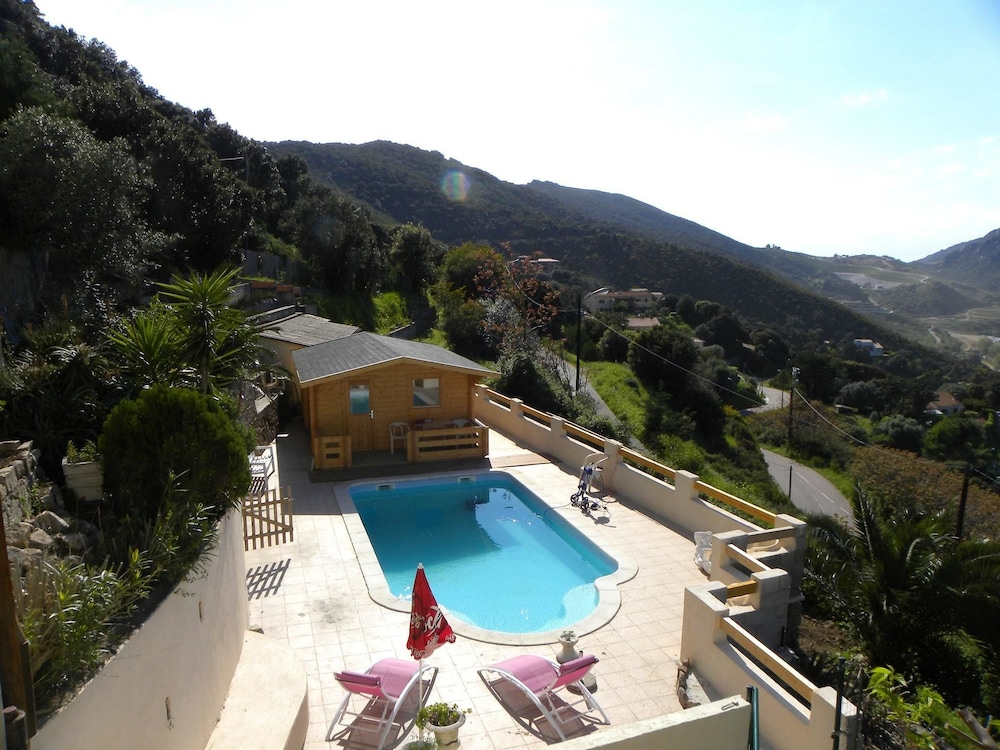 Chalet With 2 Bedrooms in Ajaccio, With Wonderful Mountain View, Pool