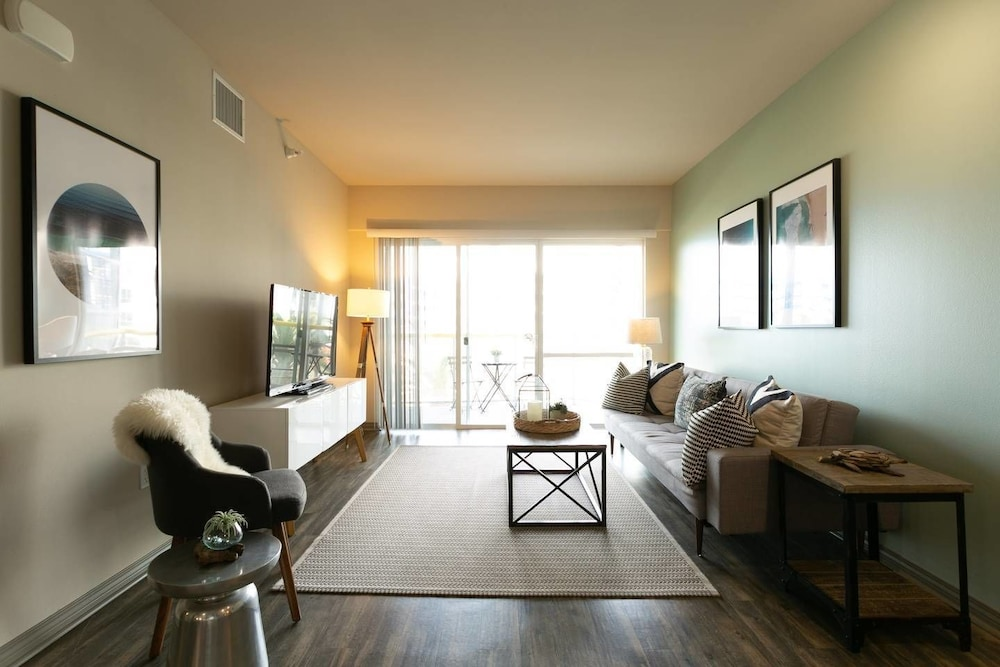 Mid-century Modern Apartment With Balcony
