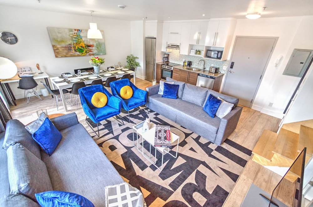Downtown Central 3 Bedrooms Rooftop BBQ by Liv Mtl- 503