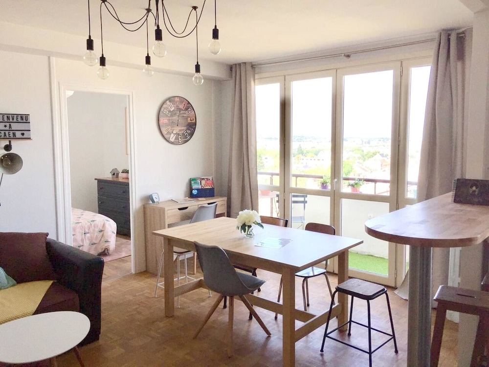 Apartment With 3 Bedrooms in Caen, With Wonderful City View, Balcony a